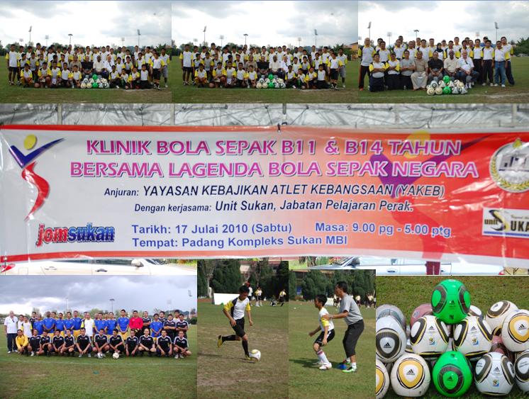 Klinik Bola Sepak B11 & B14 Tahun bersama Lagenda Bola Sepak Negara